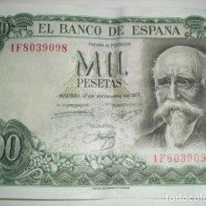 Billetes españoles: BILLETE MIL PESETAS - 1971. Lote 135089330