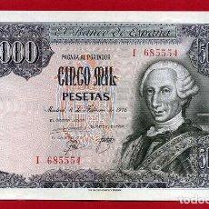 Billetes españoles: BILLETE 5000 PESETAS ENERO 1976 , EBC , SERIE I , ORIGINAL , T554. Lote 135235306