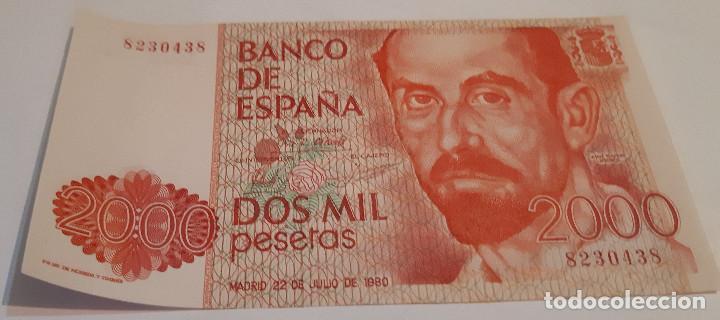 DOS MIL PESETAS BILLETE SIN SERIE (Numismática - Notafilia - Billetes Españoles)