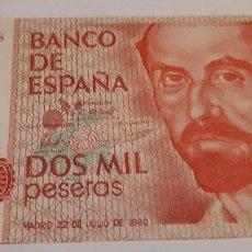 Billetes españoles: DOS MIL PESETAS BILLETE SIN SERIE. Lote 135721911