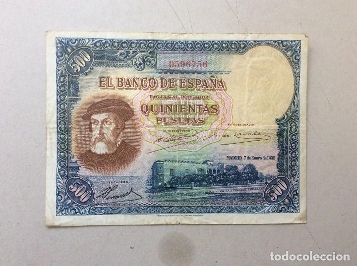 BILLETE 500 PESETAS DE 7 ENERO 1935 (Numismática - Notafilia - Billetes Españoles)