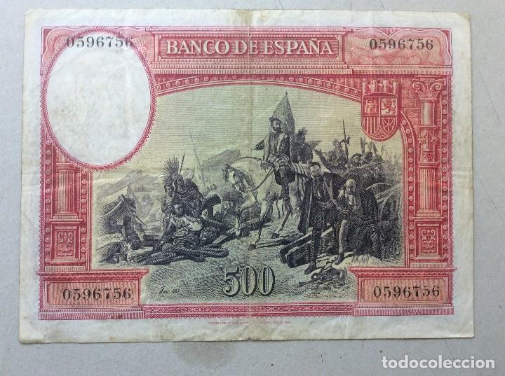 Billetes españoles: BILLETE 500 PESETAS DE 7 ENERO 1935 - Foto 2 - 135787806