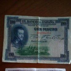 Billetes españoles: BILLETES ANTIGUOS DE 25 Y 100 PESETAS . Lote 136123674