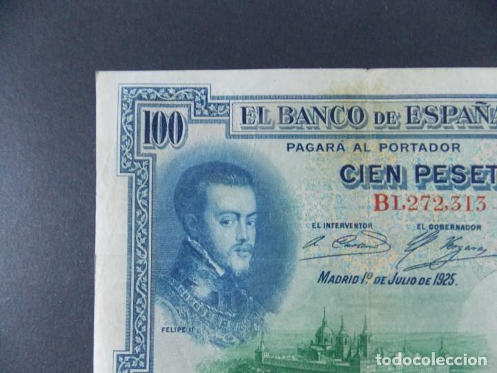 BILLETE DE 100 PESETAS 1925 CON SERIE B ( SELLO EN SECO REPUBLICA ESPAÑOLA) - CALIDAD MBC .... A127 (Numismática - Notafilia - Billetes Españoles)