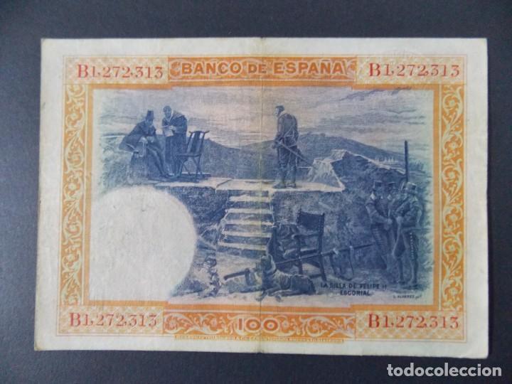 Billetes españoles: BILLETE DE 100 PESETAS 1925 CON SERIE B ( SELLO EN SECO REPUBLICA ESPAÑOLA) - CALIDAD MBC .... A127 - Foto 3 - 136291410