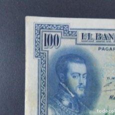 Billetes españoles: BILLETE DE 100 PESETAS 1925 CON SERIE B ( SELLO EN SECO REPUBLICA ESPAÑOLA) - CALIDAD MBC .... A129. Lote 136291714