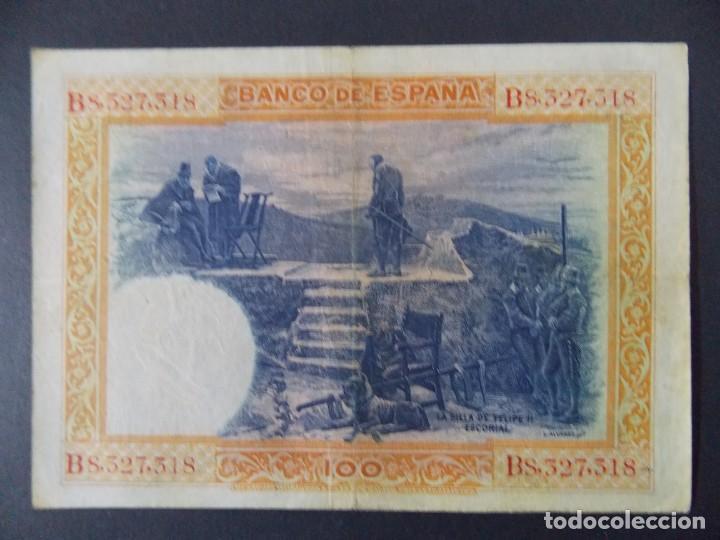 Billetes españoles: BILLETE DE 100 PESETAS 1925 CON SERIE B ( SELLO EN SECO REPUBLICA ESPAÑOLA) - CALIDAD MBC .... A129 - Foto 3 - 136291714