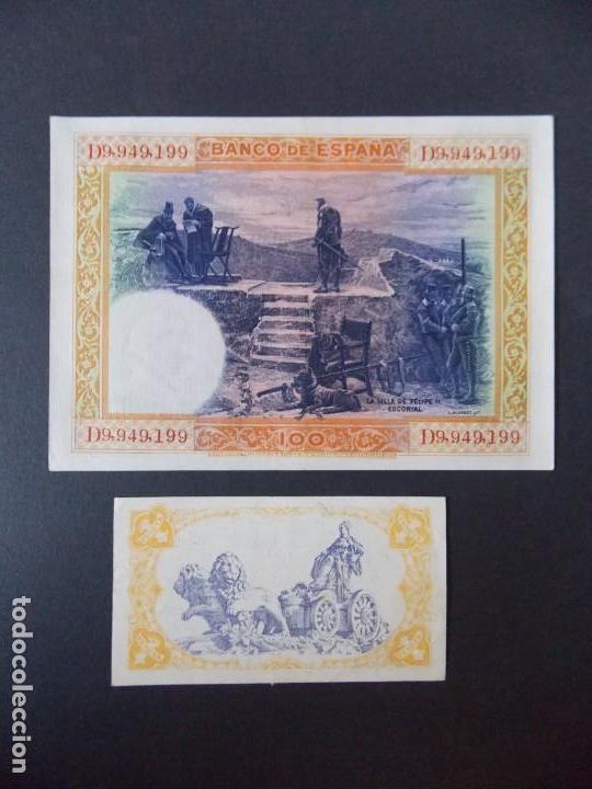 Billetes españoles: LOTE DE 2 BILLETES DE LA REPUBLICA ESPAÑOLA - CALIDAD EBC + - VER 2 FOTOS - .... A132 - Foto 2 - 136296718