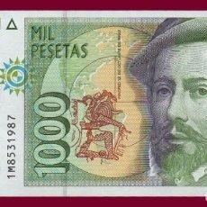 Billetes españoles: 1000 PESETAS DE 1992. BILLETE DE ESPAÑA. ÉPOCA JUAN CARLOS I. HERNÁN CORTES. EBC. Lote 136404950