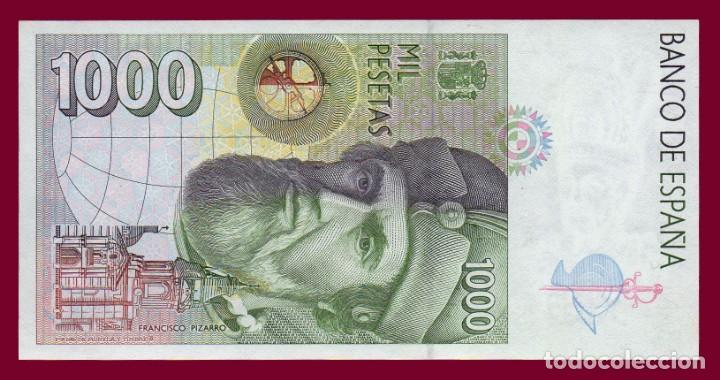 Billetes españoles: 1000 PESETAS DE 1992. BILLETE DE ESPAÑA. ÉPOCA JUAN CARLOS I. HERNÁN CORTES. EBC - Foto 2 - 136404950