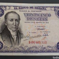 Billetes españoles: BILLETE DE 25 PESETAS 19 DE FEBRERO DE 1946. SC. Lote 136585010