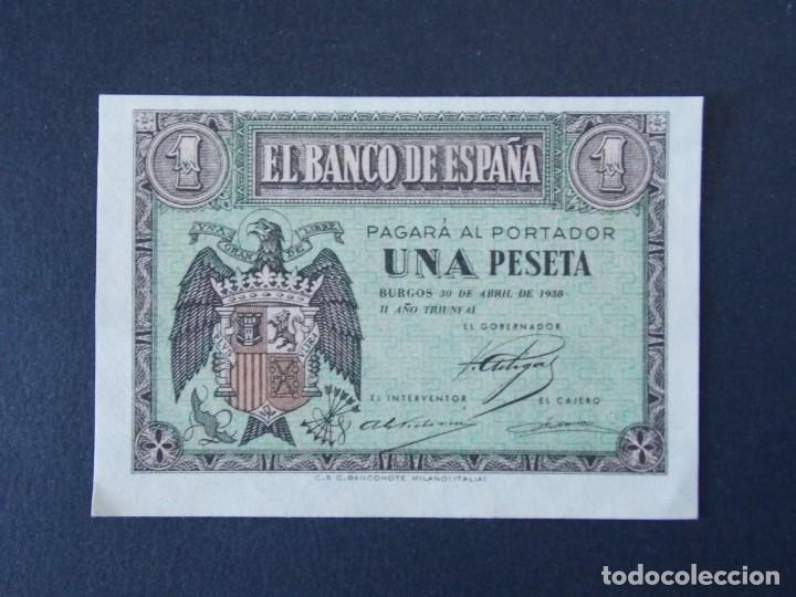 BONITO BILLETE DE 1 PESETA ABRIL DE 1938 CON SERIE G - CALIDAD SC , VER 2 FOTOS ... A151 (Numismática - Notafilia - Billetes Españoles)