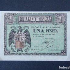 Billetes españoles: BONITO BILLETE DE 1 PESETA ABRIL DE 1938 CON SERIE G - CALIDAD SC , VER 2 FOTOS ... A151. Lote 137123810