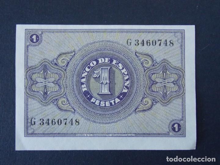 Billetes españoles: BONITO BILLETE DE 1 PESETA ABRIL DE 1938 CON SERIE G - CALIDAD SC , VER 2 FOTOS ... A151 - Foto 2 - 137123810