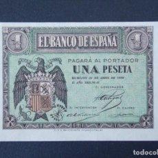 Billetes españoles: BONITO BILLETE DE 1 PESETA ABRIL DE 1938 CON SERIE G - CALIDAD SC , VER 2 FOTOS ... A152. Lote 137123970