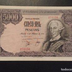 Billetes españoles: 5000 PESETAS 1976 CARLOS III SERIE 274150. Lote 137174926