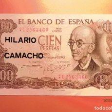 Billetes españoles: BILLETE - MANUEL DE FALLA - CIEN PESETAS - 100 PTAS - 1970.. Lote 137186538