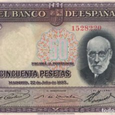 Billetes españoles: BILLETE 50 PESETAS. Lote 137442470