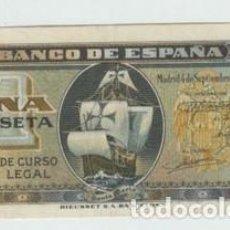 Billetes españoles: BILLETE ESPAÑA - 1 PESETA AÑO 1940 CARABELA - EBC-. Lote 137628562