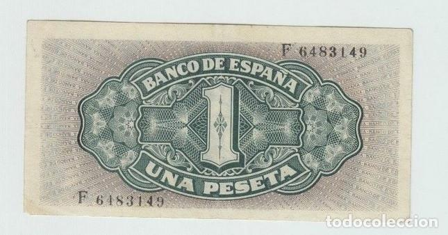 Billetes españoles: BILLETE ESPAÑA - 1 PESETA AÑO 1940 CARABELA - EBC- - Foto 2 - 137628562