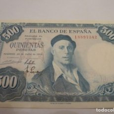 Billetes españoles: BILLETE 500 PTAS 1954 ZULOAGA PLANCHA. Lote 137817058