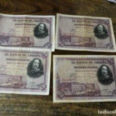 Billetes españoles: LOTE DE 4 BILLETES DE 50 PESETAS. Lote 137856126