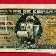 Billetes españoles: BILLETE 1 PESETA SEPTIEMBRE 1940 , EBC , SERIE A , ORIGINAL , T314. Lote 138008430