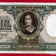 Billetes españoles: BILLETE 1000 PESETAS ENERO 1940 , MBC , SERIE A , ORIGINAL , T441. Lote 138028270
