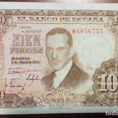 Billetes españoles: 100 PESETAS 1953. MBC. SERIE W. Lote 138664298