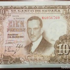 Billetes españoles: 100 PESETAS 1953. MBC. SERIE W. Lote 138664414