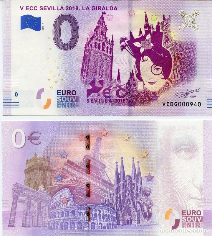 BILLETE 0 EUROS SEVILLA - EXFILNA 2018. 4€ GASTOS DE ENVIÓ ORDINARIO INCLUIDOS (Numismática - Notafilia - Billetes Españoles)