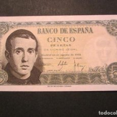 Billetes españoles: 5 PESETAS DE 1951 SIN SERIE-311 PLANCHA (DIFÍCIL). Lote 139129018