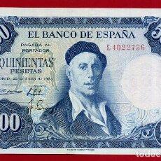 Billetes españoles: BILLETE 500 PESETAS 1954 , EBC++ , SERIE L , ORIGINAL , T736. Lote 139184494