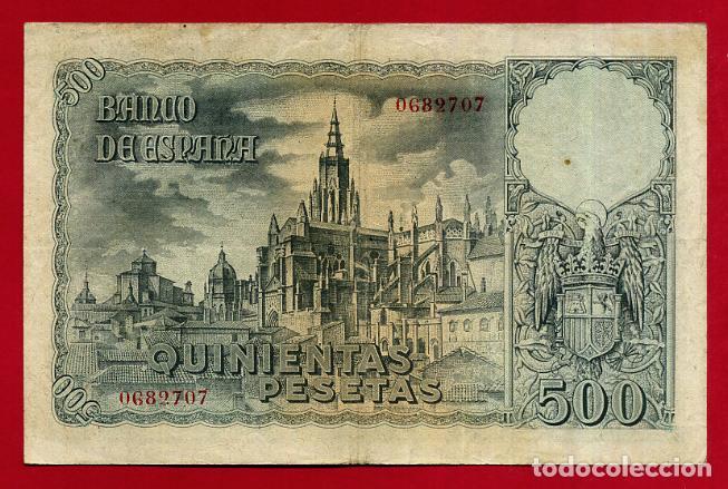 Billetes españoles: BILLETE 500 PESETAS OCTUBRE 1940 , MBC+ , SIN SERIE , ORIGINAL , T707 - Foto 2 - 139185498