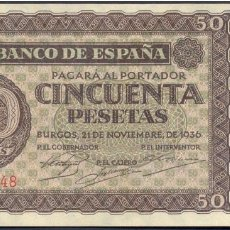 Billetes españoles: 50 PESETAS 1936 SERIE D EBC+/S/C-. Lote 139271458