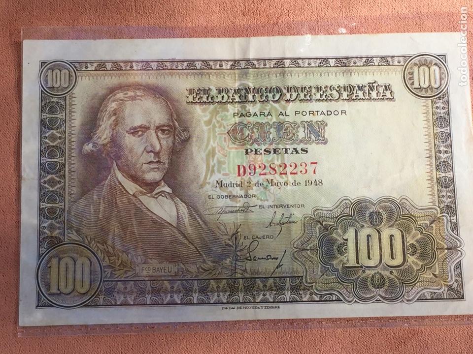Billetes españoles: Billete 100 pesetas 1948 Bayeu MBC- Envío Gratis - Foto 2 - 139606114