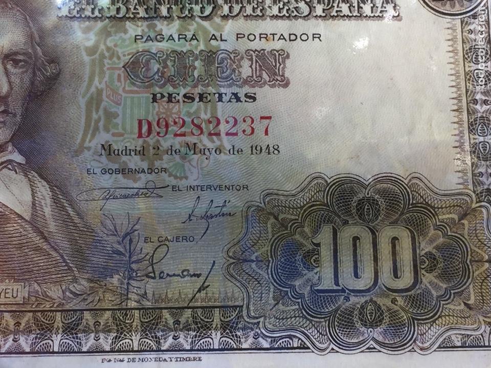 Billetes españoles: Billete 100 pesetas 1948 Bayeu MBC- Envío Gratis - Foto 6 - 139606114