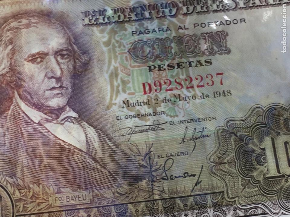 Billetes españoles: Billete 100 pesetas 1948 Bayeu MBC- Envío Gratis - Foto 8 - 139606114
