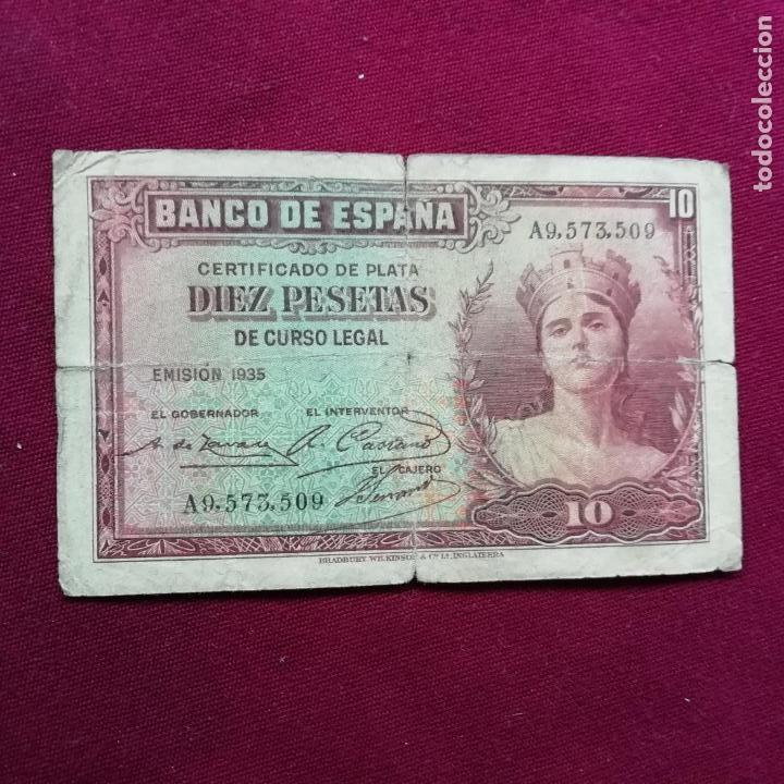 10 PESETAS DE 1935 (Numismática - Notafilia - Billetes Españoles)