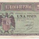 Billetes españoles: BILLETE DE BURGOS DE 1 PESETA DE BURGOS DEL 30 DE ABRIL DEL AÑO 1938 SERIE C EN BUENA CALIDAD. Lote 139791682