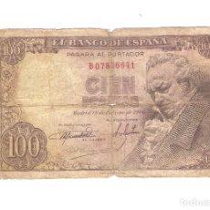 Billetes españoles: 1 BILLETE DE 100 PESETAS 1946 ESTADO REGULAR EL DE LA FOTO. Lote 139796298