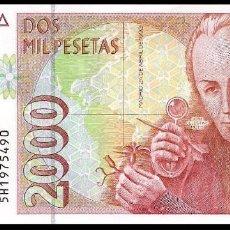 Billetes españoles: 2000 PESETAS DE 1992 SIN CIRCULAR/PLANCHA. Lote 140462742