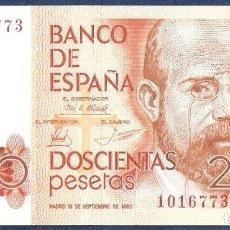 Billetes españoles: 200 PESETAS 1980 SIN SERIE, SIN CIRCULAR/PLANCHA. Lote 140463354