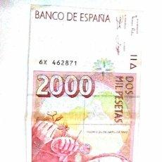 Billetes españoles: 2000 PESETAS DE 1992 SERIE 6X, ULTIMA. Lote 140464674