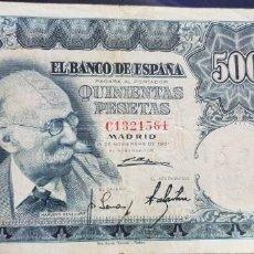 Billetes españoles: PAREJA DE BILLETES DE 500 PESETAS AÑO 1951 MARIANO BENLLIURE . Lote 140471366