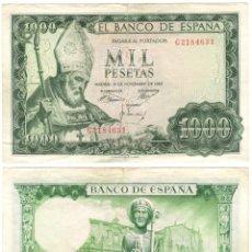 Billetes españoles: BILLETE DE 1000 PESETAS DEL AÑO 1965. SAN ISIDORO. SERIE C. Lote 140508982