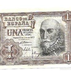Billetes españoles: 1 PESETA 1953 EBC. Lote 140524858