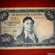 Billetes españoles: BILLETE DE QUINIENTAS (500) PESETAS - 1954. Lote 140952892