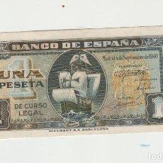 Billetes españoles: 1 PESETA- 4 DE SETIEMBRE DE 1940. Lote 141439942