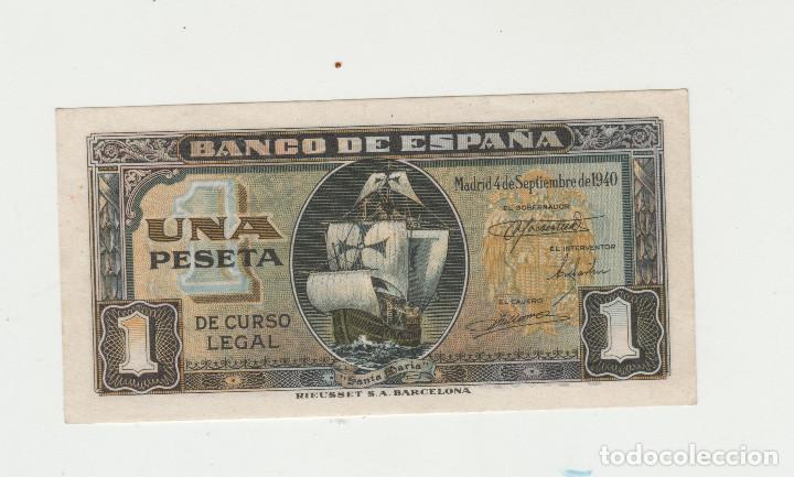 1 PESETA- 4 DE SETIEMBRE DE 1940-SC- (Numismática - Notafilia - Billetes Españoles)